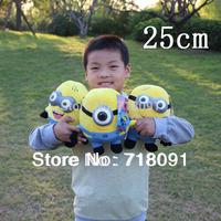 23CM,1PC,3D Despicable ME,Plush Toy Minions Doll,Jorge,Stewart,Dave,Free Drop Shipping