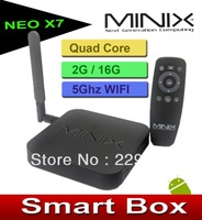MINIX NEO X7 Quad core RK3188 2G 16G TV BOX set top box mini pc Android 4.2 rk3188  Bluetooth V4.0 WIFI 5Ghz XBMC Cloud TV IPTV