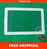"Free shipping 10.1"" Ampe A10S Sanei N10 Dual Core Tablet White TPC0323 VER.1.0 Touch Screen Digitizer Replacement For repairing"