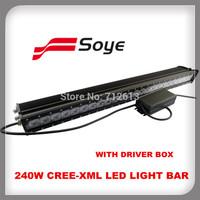 New10w cree! 26.5inch 240W single row led bar light, IP67 cree led bar, super bright adjustable led offroad light bar