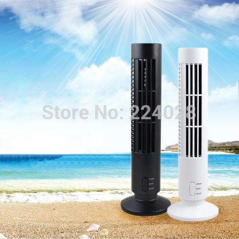 Mini usb tower fan, portable hand-held fan, small handheld bladeless home desk fan, new 2014 office electric fan, Free shipping(China (Mainland))
