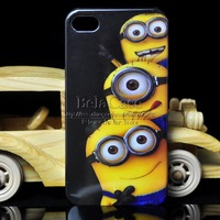 Despicable Me Minions Design Cartoon Cute Plastic Hard Case For Apple iPhone 5 5G 5S Back Cover Protective Shell