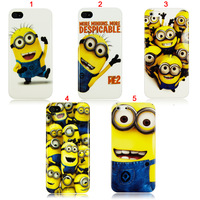 Hot Items Bulk Price Cute Cartoon despicable me Minions Designer Plastic Case for iPhone4 4S 5 5g,200pcs/lot,DHL Free shipping