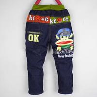 free shipping 2014 new cartoon Monkey kids Boys baby  jeans Trousers children's pants wholesale Autumn Spring pants 1lot=4pcs
