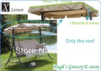 "Free shipping outdoor swing chair , hammock canopy roof replacement--Beige 190x120cm/74.8""x47"""