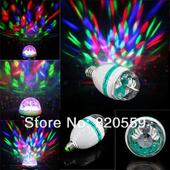 free shipping 6pcs/lot 3W RGB DJ Stage Lighting Bulb Disco Crystal Ball Lights E27 Base Lamp RGB LED Blub Led lamp