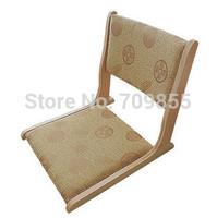 (2pcs/ lot) Japanese floor seating furniture natural finish  folding  floor zaisu tatami chair