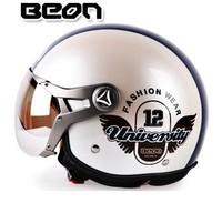 2015  new free shipping BEON motorcycle helmet / warm winter half helmet ECE certification M  L XL code