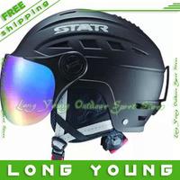 Fashion 2013 STAR Ski goggles helmet snowboard ski helmet with colored lenses for eyes 6 colors for gopro hero 3 2