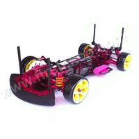 Aluminium alloy & Carbon fiber 1:10 4WD Front Motor Drift Car Kit For SAKURA D3 CS