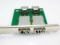 2 ports Internal SFF-8087 36P to External SFF 8088 PCI mini SAS 26P Adapter SAS RAID Pin board