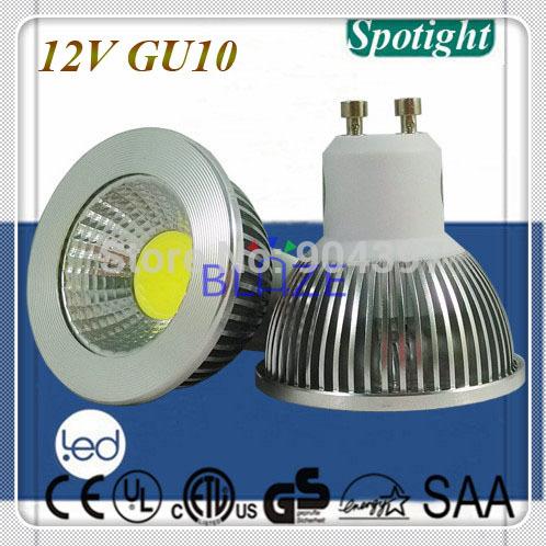 DC 12V GU10 COB Led Light Bulbs ampoule 5W 450LM H54 Reflector lighting 50pcs/Lot(China (Mainland))