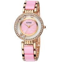 6 Color KIMIO Brand Quartz Watch for Women Female Ladies/ High Quality Famous Fashion Ceramic Wrist watches with Diamonds K485M