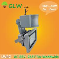 240V Outdoor Floodlight 10W/20W/30W/50W PIR LED Flood light White Warm Floodlight Motion Sensor Spotlight A85V-265V LW42