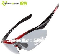 Free shipping Polarized Sunglasses  5 Lens  Bike Glasses glasses 4 colors