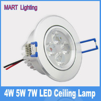 Luxury 4W 5W 7W 12w  high power ceiling led spot recessed downlight AC85-265v