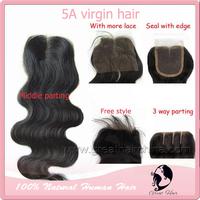 "great hair lace closure indian hair lace front closure body wave Hair silk base Closure(4""*4"" & 4""*5""),8""-22"" natural Color"