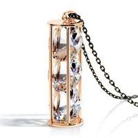 2014 new Free shipping big choker girl's fashion brand jewelry fresh lady crystal hourglass happy Zircon necklace sweater chain