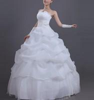 2013 White Sexy Off shoulder flower bride wedding sweet princess Slim wedding dress  fs001