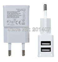 100-240V 2A Dual USB Ports EU Plug Home Travel Wall AC Power  Charger Adapter For HTC One LG Nexus 4 Galaxy S3 S4