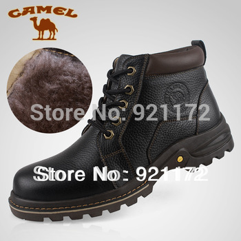 Popular men's wool boots male Camel shoes high-top male genuine leather wool business casual shoes Plus size wholesale price