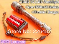 CREE  XML-T6  Flashlight  Torch  T6  LED 3000Lms  Waterproof   Lighting  Long  Distance  Hunting  not  Shocker  Powerful  Lamp
