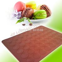 Cake Pans Large Macaron 48-holes Silicone Cake Mat  Pad Baking Tools Decorating Tool Bakeware Cupcake