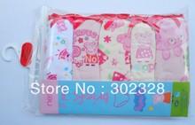 2014 New Peppa Pig Character girls briefs 5pcs pack underwear cotton wear calcinha infantil Pepa pig panties for girl(China (Mainland))
