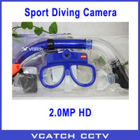 Free Shipping 2013 Newest! 1280x960 Camcorder and Snorkel Sport DVR Glasses Camera with Anti-fog Glass - 10m Waterproof Camera