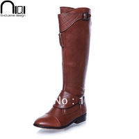 women motorcycle boots flat heel cowhide platform genuine leather winter brand botas shoes woman fashion rubber boots ladies