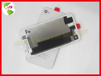 20pcs/lot Replace Spare Part Black Wihte Battery Back Housing Cover for iPhone 4s 4gs with Protective Film as a Gift