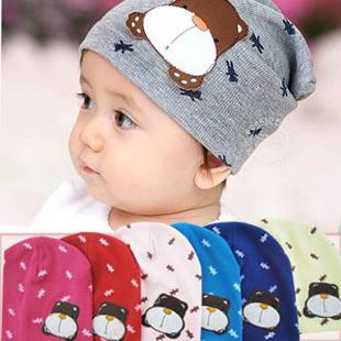 2014 new fashion summer sun hat Special Korean bonnet cartoon dog labeling set of head cap / baby child hat wholesale ht005(China (Mainland))