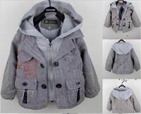 Retail Hot sale children boy jackets coat cartoon birds hooded zipper coat fake 2 pieces Autumn kids casual coat outerwear