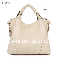 Fashion Vintage Women Genuine Leather Handbags New 2013 Chain Designers Brand Totes Handbags First Layer Cowhide Messenger Bags