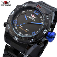 2013 brand EPOZZ Dual Digital Analog Mens Quartz Sports Gift Watches montre Fabuloso reloj deportivo para caballero contra agua