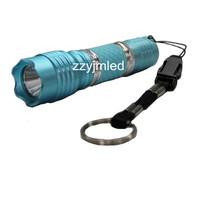 Wholesale - Best AA Battery 1W LED Lanshi LS-554  Light Blue Aluminium Mini LED Torch/Flashlight