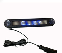 Blue 12V LED Message Digital Moving Remote Control English and Russian display Scrolling Car Sign Light LED door windows display