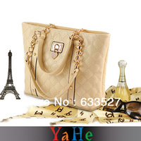 Free shipping 2013 Fashion Plaid White Women Handbags Bags Famous Brand YAHE Vintage Rivet  Women Leather Handbags WB3002