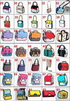 3D cartoon bags 48styles to choose  3D canvas camera Handbag shoulder Messenger bag