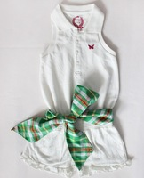 2013 New Arrive Girl's big bowknot sports jumpsuits baseball romper suit children's Free shipping!