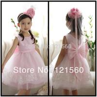Free shipping Hot sale Fashion  girls Flower girls dress 2-9 age