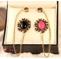 Vintage flower earrings alloy ear drop  Min.order is $5 (mix order) free shipping