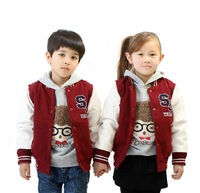 2014 children the spring and autumn period and the new children's clothing boy girl's cloth pu leather jacket, free shipping