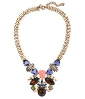 2013 fashion new arrival JC Luxury Jewelry  LULU Extravagant Dreamy Gem Statement Necklace OEM wholesale