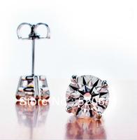 Wholesale Xmas synthetic diamond earrings sterling silver 18K white gold plated Anti allergic earring,wedding earring for women