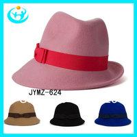 Free shipping Fashion spring and autumn lady wool hat  bowler hat homburg  winter woolen cap female hat fashion fedora hat