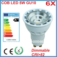 Free Shipping 2013 New Design 2700k Warm White Dimmable COB  LED GU10 with Reflector