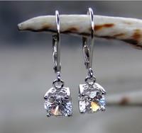 New Elegant 2ct 925 Sterling Silver Hoop Earrings SONA Simulate Diamond  Women Earrings Luxury White Gold FInish Anti allergic