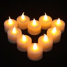 24 pcs Flickering Flicker Flameless LED Tealight Tea Candles Light Battery Operated Wedding Birthday Party Christmas Decoration(China (Mainland))