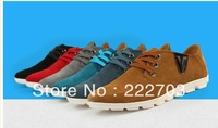 new 2013 sapatos blue brown black oxfords Autumn summer business casual classic oxford shoes genuine leather for men brand